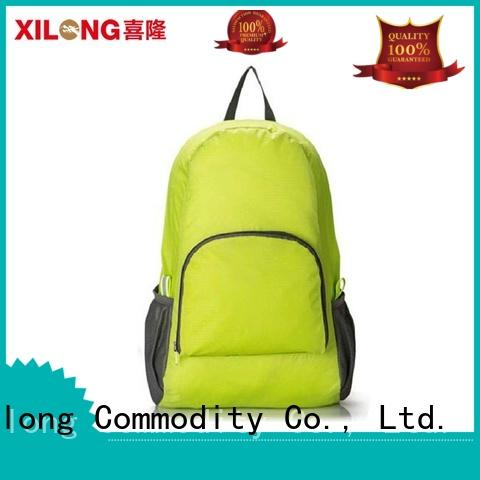 Xilong printing fold out backpack for boys