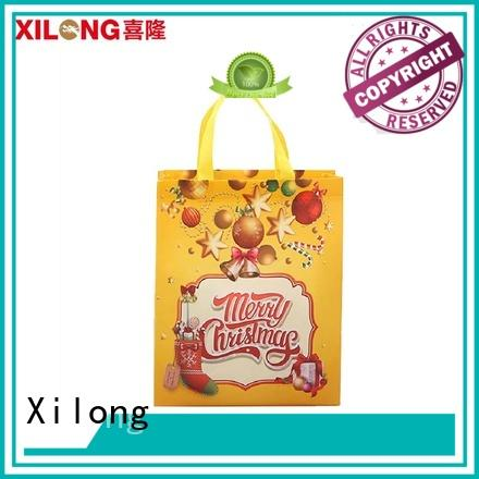 Xilong bulk production personalized shopping bags wholesale free sample for students