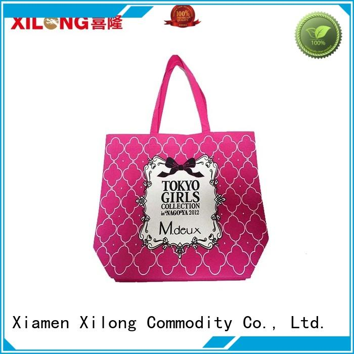 reusable custom printed reusable shopping bags free sample for travel Xilong