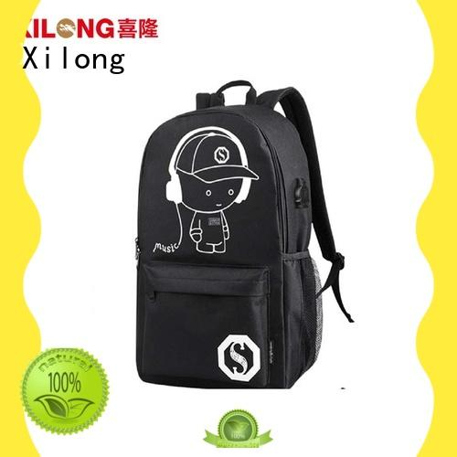 Xilong made personalized book bags for school backpacks for high school