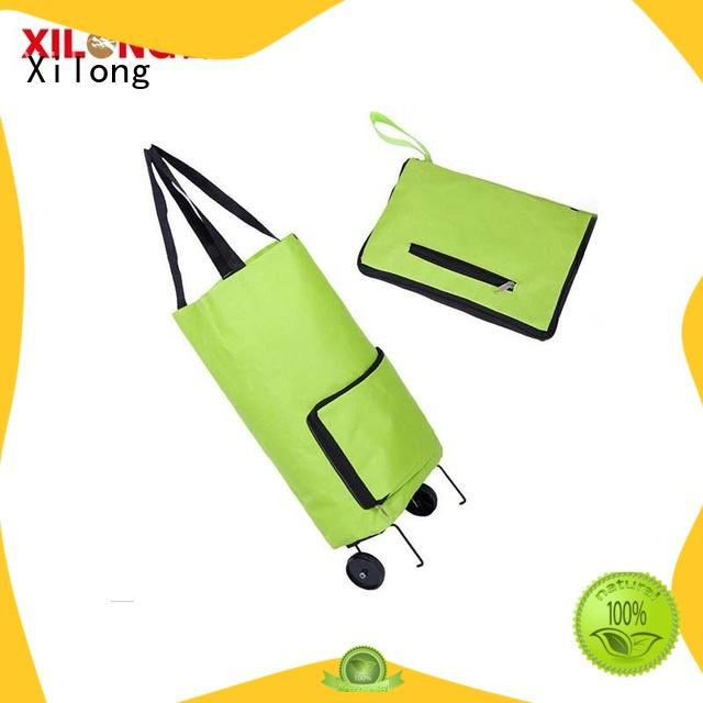 Xilong wheels foldable shopping trolley bag for wholesale