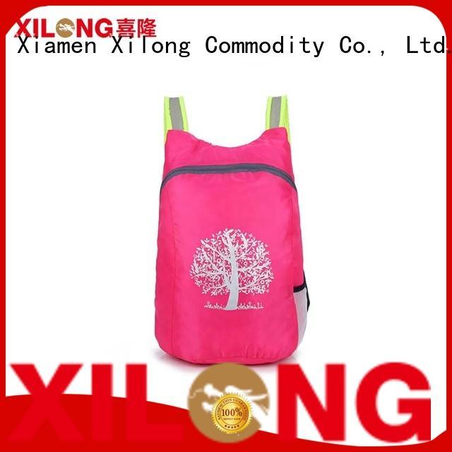 Xilong foldable light foldable backpack best quality for boys