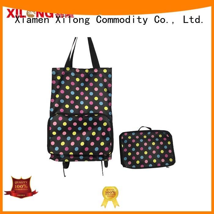 Xilong Top folding shopping bag with wheels factory