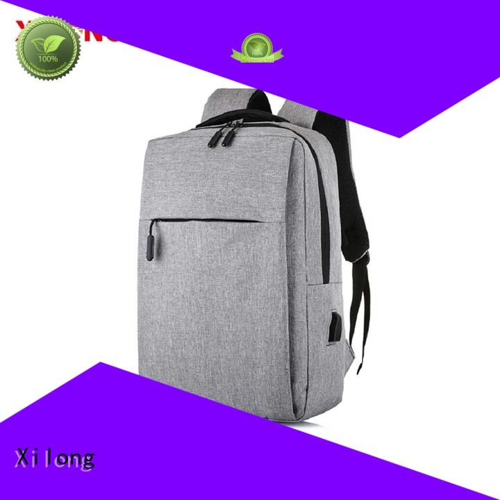 bags personalized laptop backpack usb charger for travel Xilong