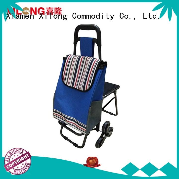 Xilong odm portable shopping trolley customization for girls