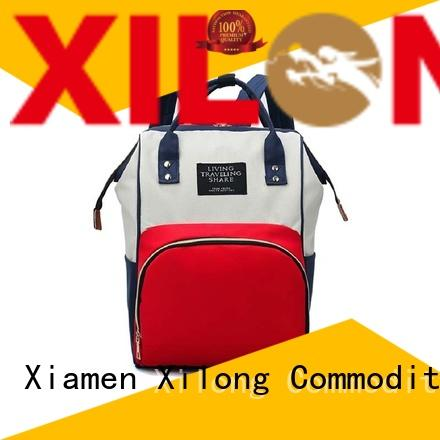 Xilong personalized diaper bag backpack for business