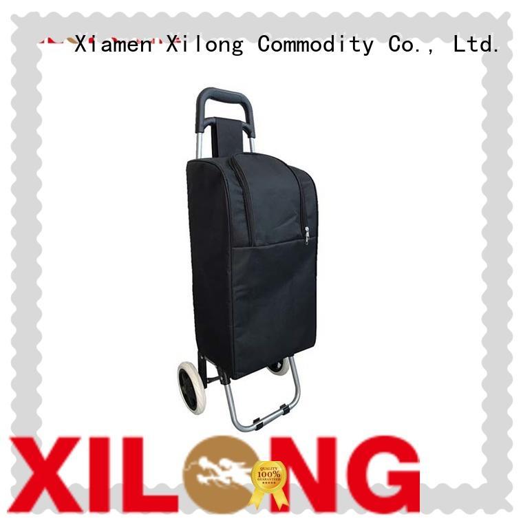 Xilong custom logo wheeled picnic cooler trolley bag trolley