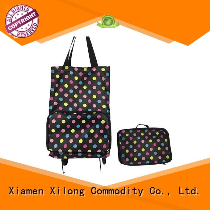 Xilong wheels personalized shopping bags for business customization for women
