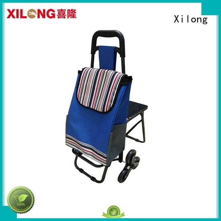 Folding Shopping Cart Bags on Wheels with Seat