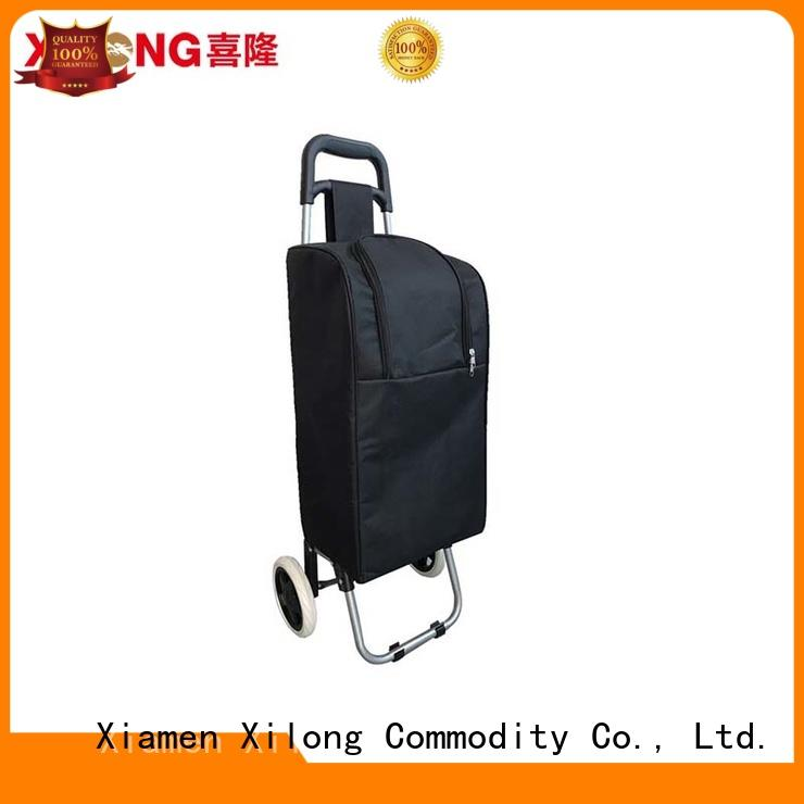 wheel picnic cooler trolley with seat for shopping Xilong