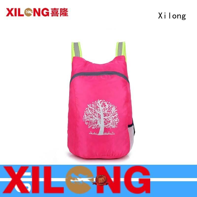 Xilong foldable fold up nylon backpack sport for boys