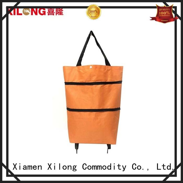 Xilong rolling shopping bags on wheels manufacturers