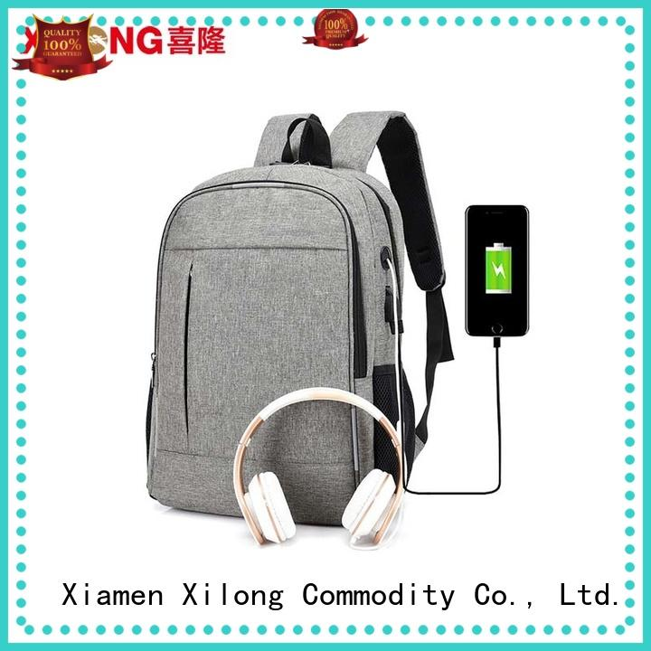 charging custom made laptop bags port for business trip Xilong