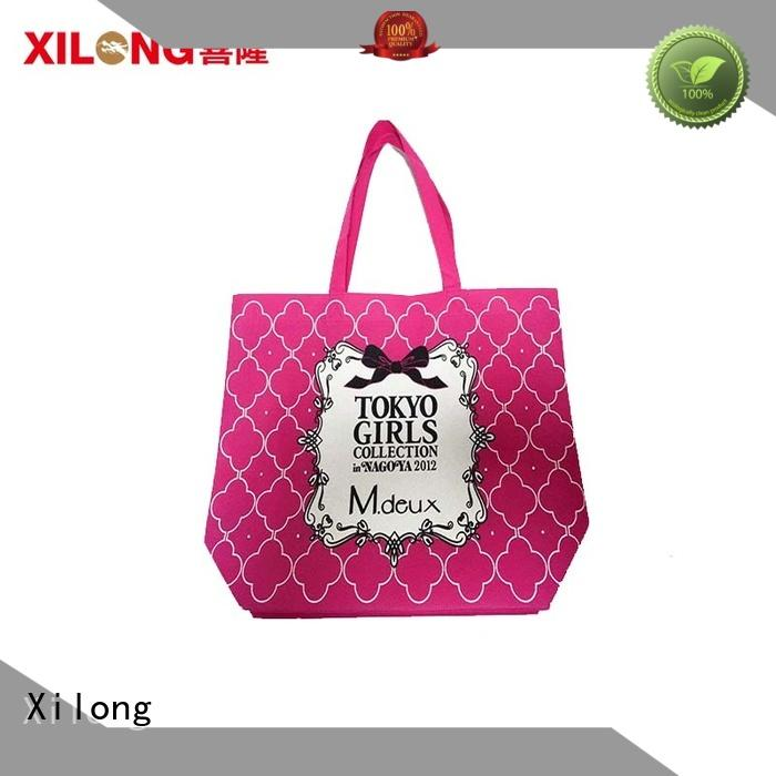 Xilong logo eco shopper bags
