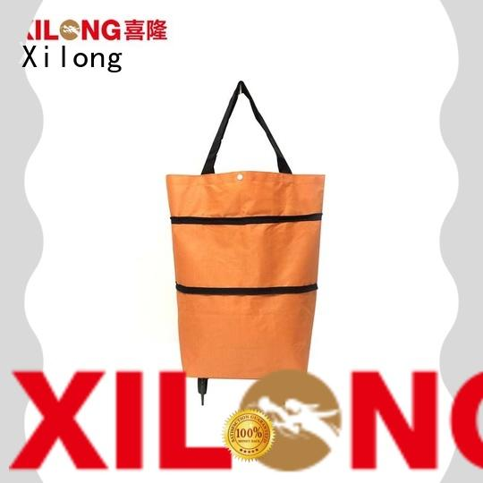 Xilong trolley shopping cart bags on wheels for wholesale for girls