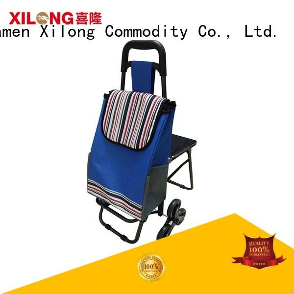 Xilong Latest foldable trolley shopping bag cart manufacturers
