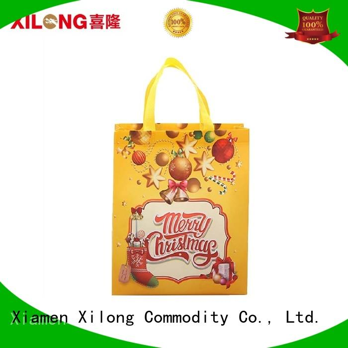 Xilong tote fabric shopping bag free sample for travel