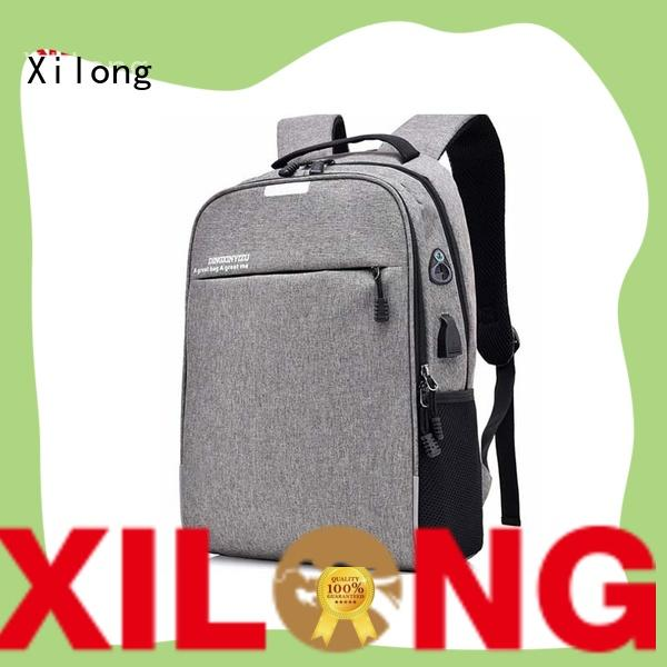 Wholesale waterproof USB charger port business custom laptop backpack bags