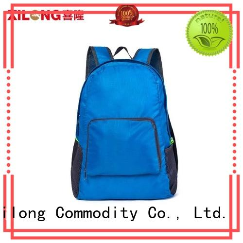 Customer logo printing outdoor travelling cheap custom backpack waterproof and foldable