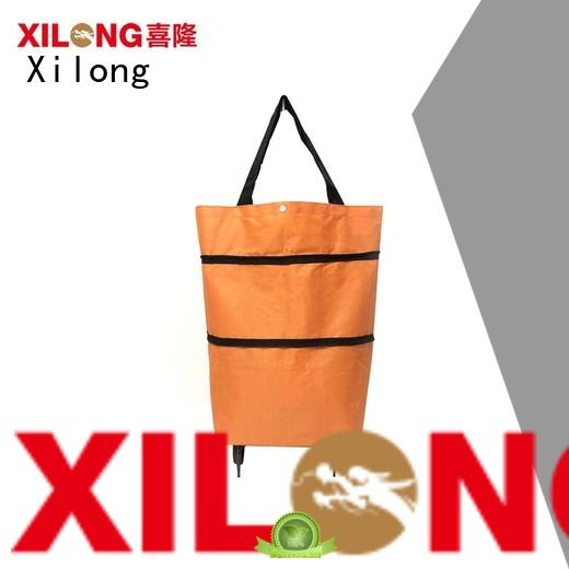folding large shopping trolley bag laminated for ladies Xilong