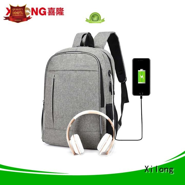 Xilong waterproof personalized laptop backpack customized for travel