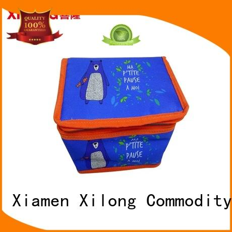 Xilong woven tote style cooler bag foil