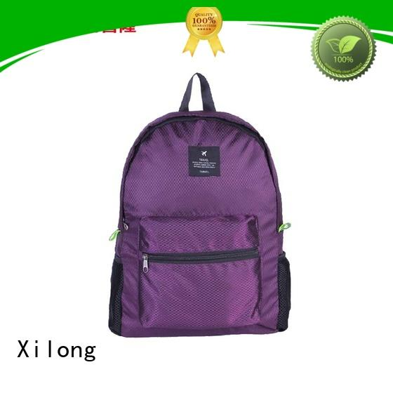Xilong travelling foldable waterproof backpack reasonable price for boys