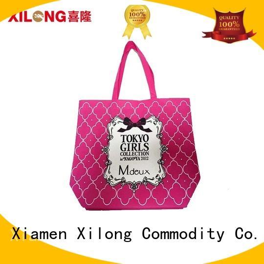 Xilong tote cute reusable shopping totes factory price