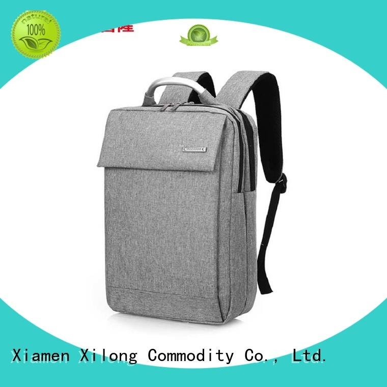 Xilong anti-theft custom logo laptop backpack fashion for computer
