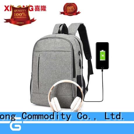 Xilong stylish custom logo laptop backpack business for computer