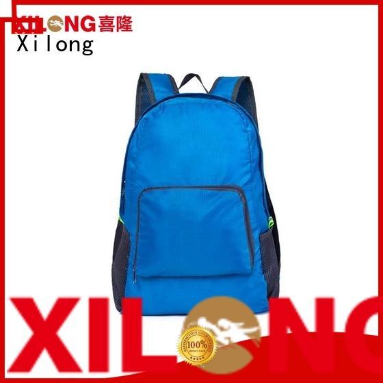 Xilong light waterproof folding backpack open for boys