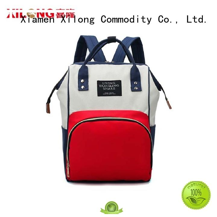 Xilong custom backpack purse diaper bag bag for packing