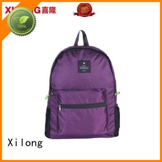 Xilong sports foldable waterproof backpack reasonable price for girls