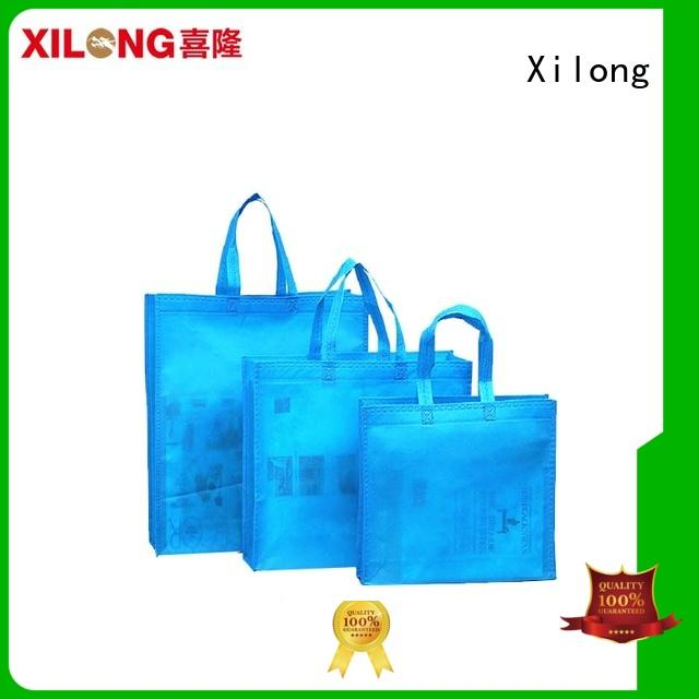 laminated fancy shopping bags reusable for students Xilong