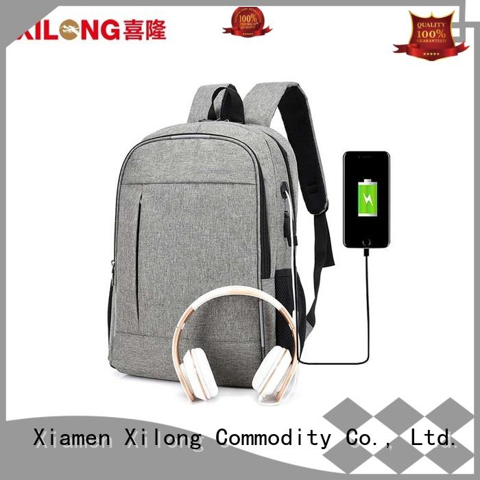 Xilong charging custom logo laptop bag usb for business trip