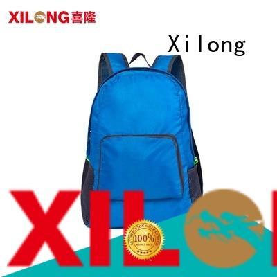 logo lightweight folding backpack day for boys Xilong