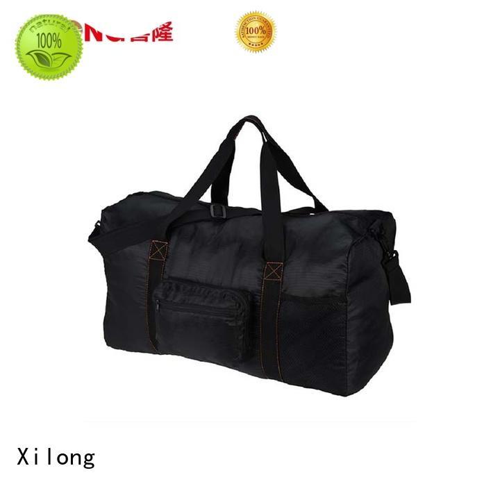Xilong foldable custom logo duffle bag factory price for travel