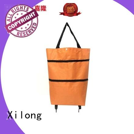 OEM/ODM  Polyester Foldable Shopping Cart Trolley Bags