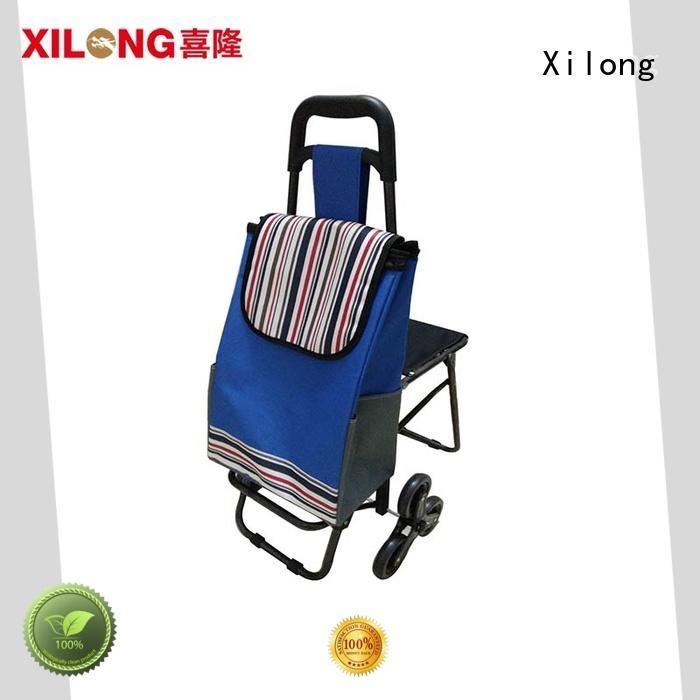 Xilong polyester stylish shopping trolley customization