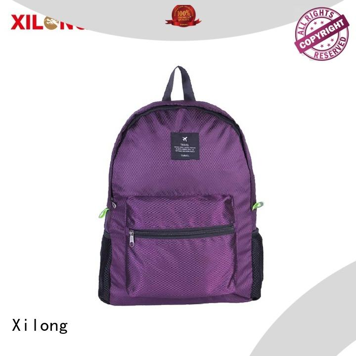 Xilong light folding backpacks clear for travel