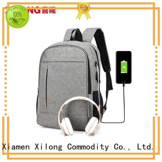 Xilong anti-theft women's computer backpack port for business trip