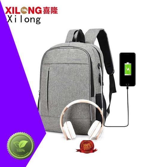 Xilong fashion laptop backpack manufacturer business for travel