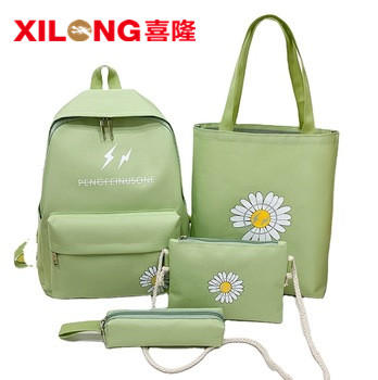 Hot style latest small Daisy candy color four-piece set for junior high school bag for girls