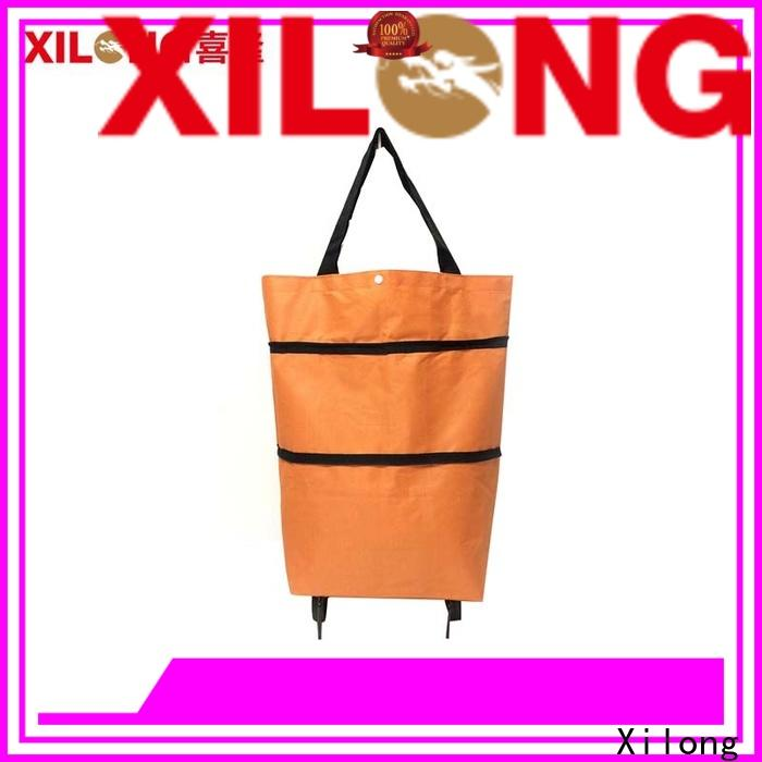 Xilong fold up shopping bag with wheels factory