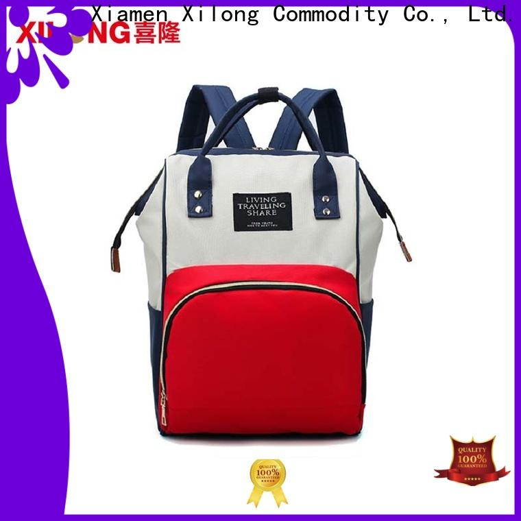 Xilong mummy diaper backpack factory