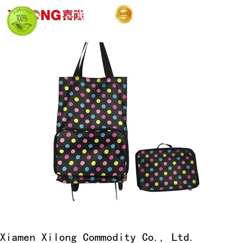 Wholesale fold up shopping trolley with wheels for business